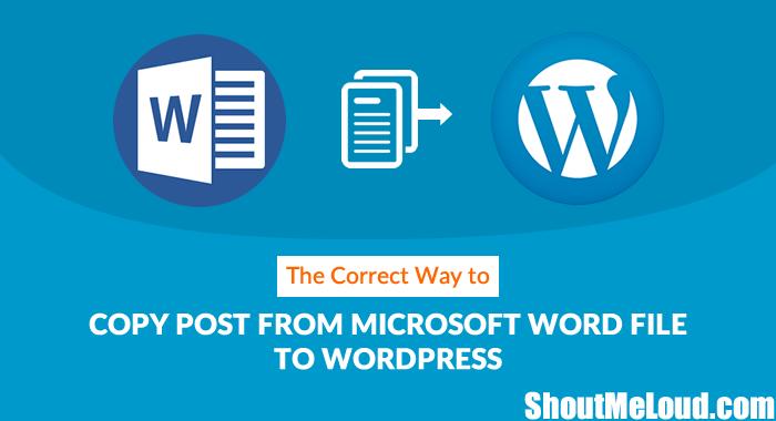 Copy Post From Microsoft Word to WordPress
