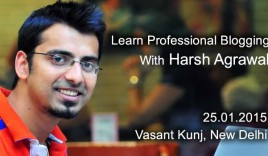 #ShoutUp : Join India's First Professional Blogging WorkShop On 25th January