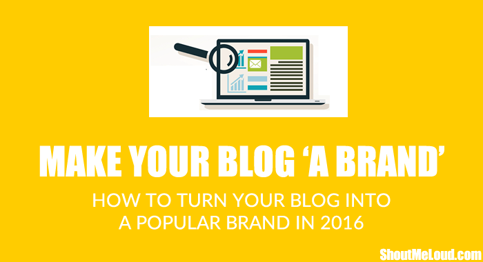 Make Blog as a Brand