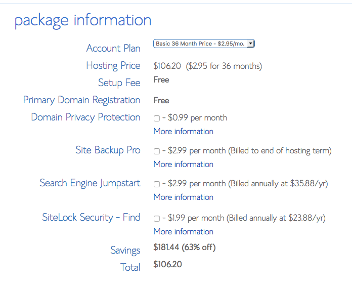 package-information