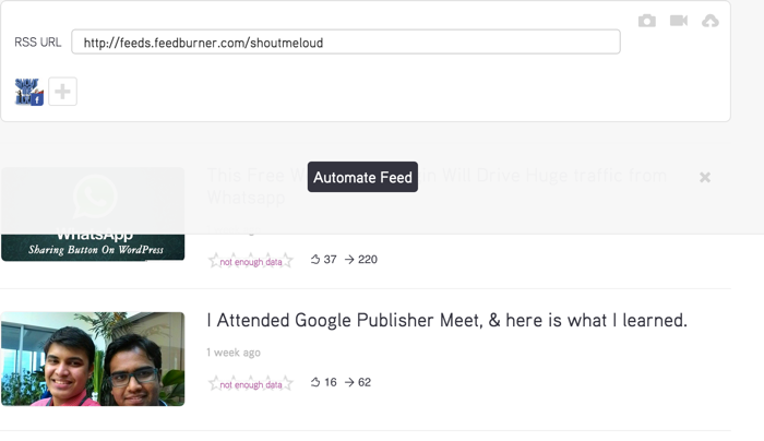 RSS feed automation