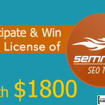 Participate & Win SEMRUSH SEO Tool Worth $1800