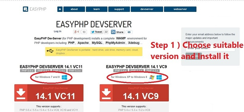 easy php DEV server
