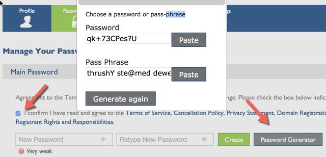 hosting password generator