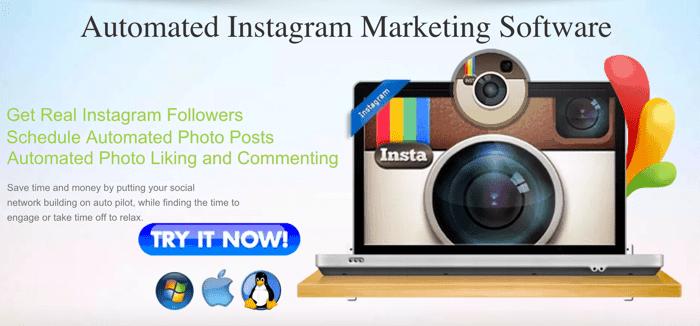 Automated Instgram marketing tool