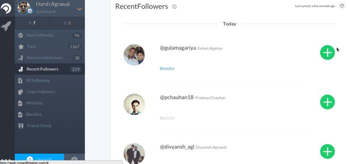 Crowdfire Instagram app