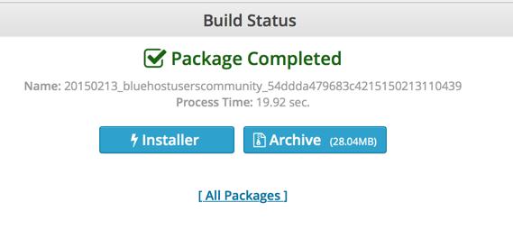 Duplicator plugin package created
