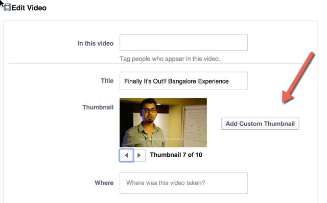 Facebook Custom thumbnail