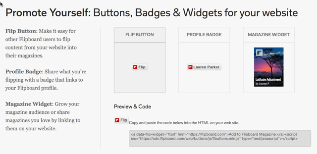 Flipboard Follow buttons