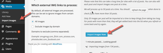 Import WordPress.com Images