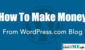 How To Make Money From WordPress.com Blog?