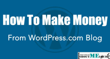How To Make Money From WordPress.com Blog?