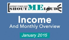 ShoutMeLoud January, 2015 – Traffic & Income Report