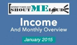 ShoutMeLoud January 2015 Traffic & Earning Report