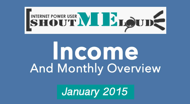 Shoutmeloud Monthly Income - January