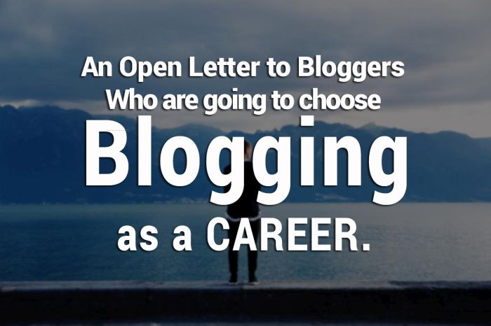 Open letter to bloggers