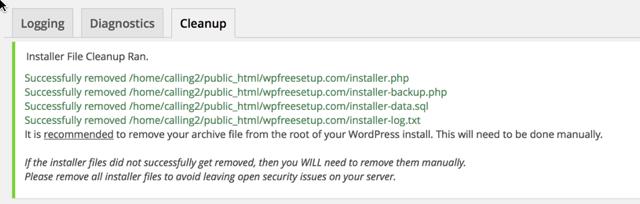 remove installer file
