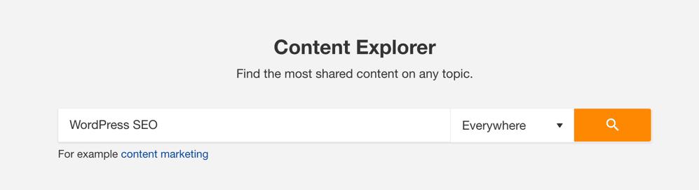 Content Explorer By Ahrefs - An Alternative To BuzzSumo