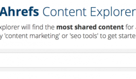 Content Explorer By Ahrefs – An Alternative To BuzzSumo