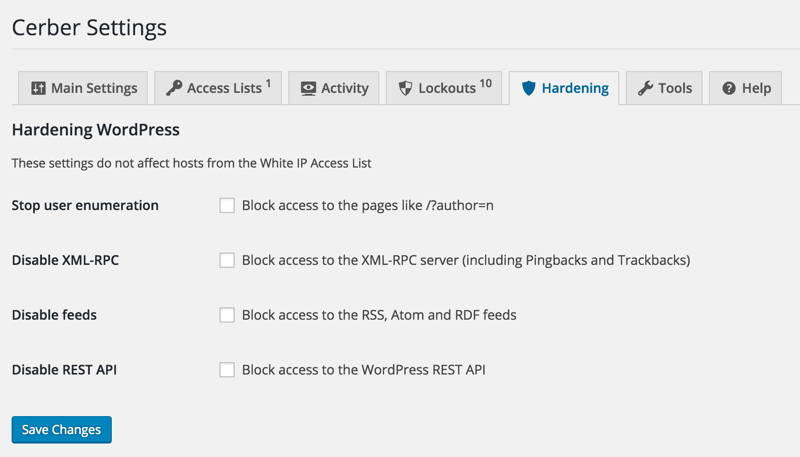 Block WordPress rest API
