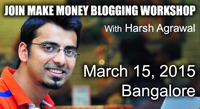 Blogging Workshop in Bangalore