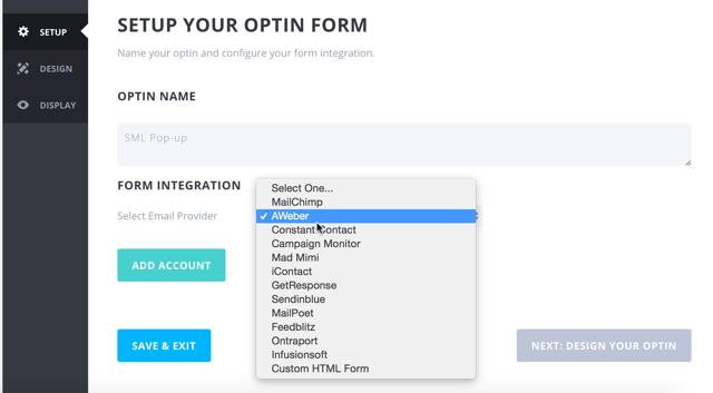 Email service integrartion