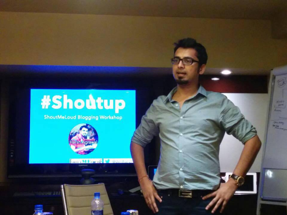 Moments From ShoutMeLoud Bangalore Workshop – ShoutUP #3