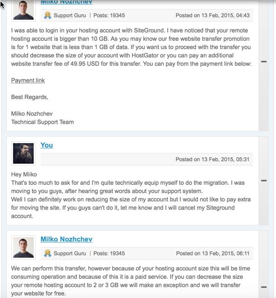 Siteground migrated WordPress sites
