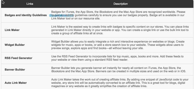 iTunes Affiliate link maker