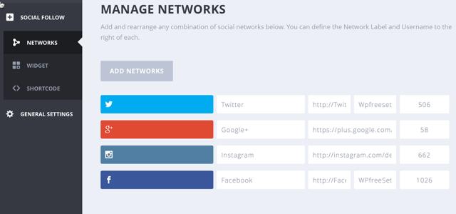 social media follow widget wordpress