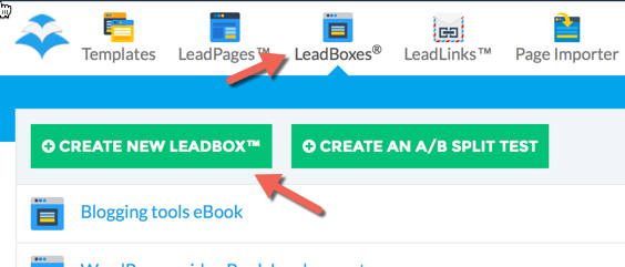 Create new Leadbox