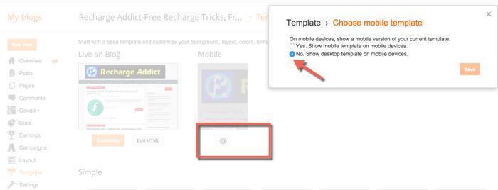 wordpress how to change mobile settings