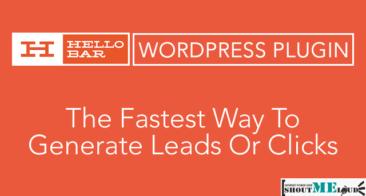 HelloBar WordPress Plugin Adds Notification Bar In WordPress