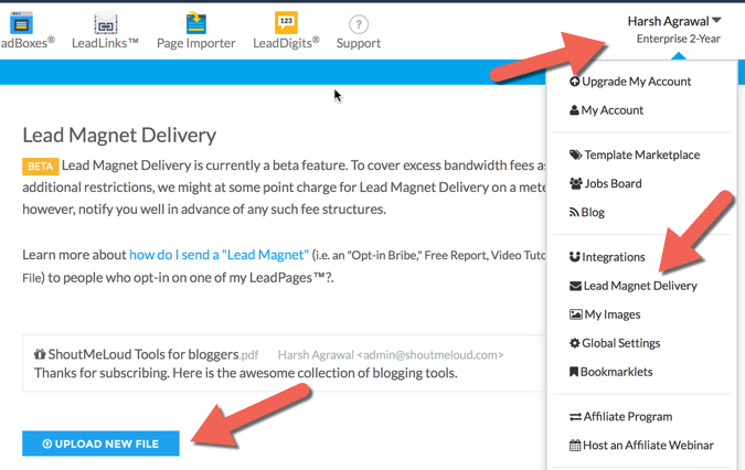 Lead magnet Leadpages