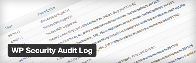 WordPress Security log