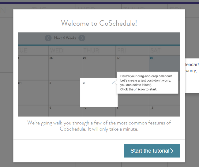 Coschedule homescreen