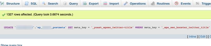 migrate SQL meta key value