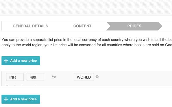 pricing book