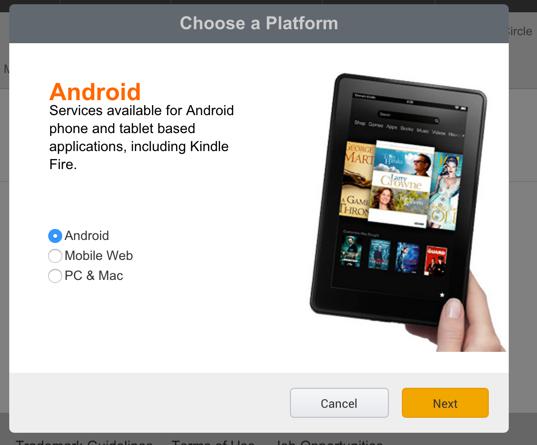 submit app Amazon app store