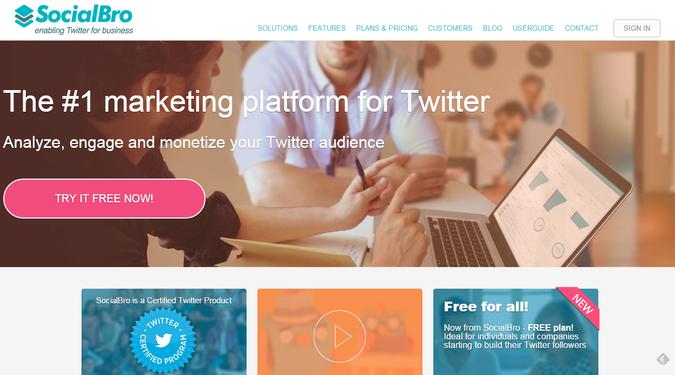 SocialBro Twitter Management tool