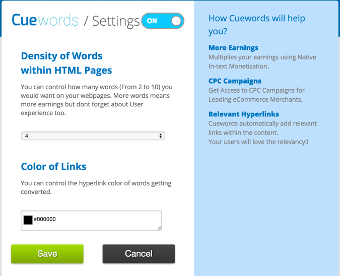 CUEWORDS review