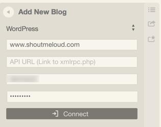 Connecting WordPress Desk App