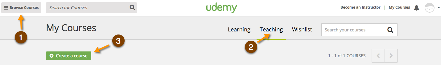 Create a Course on Udemy