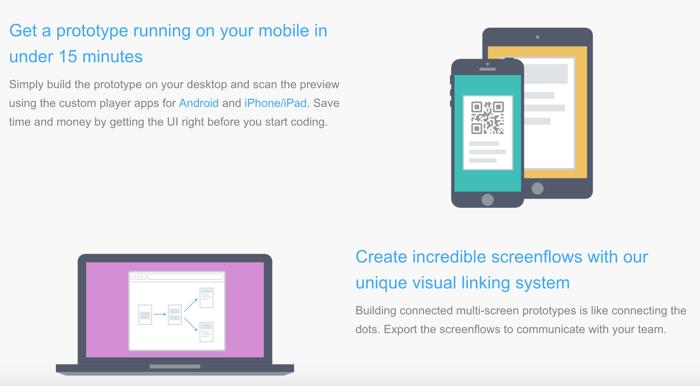 Create mobile app protortype