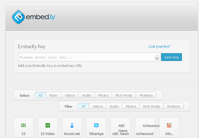 Embedly API Key
