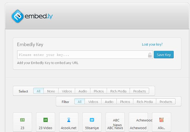 Embedly API Key