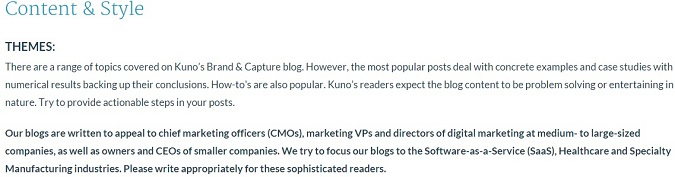 target audience for kuno creative