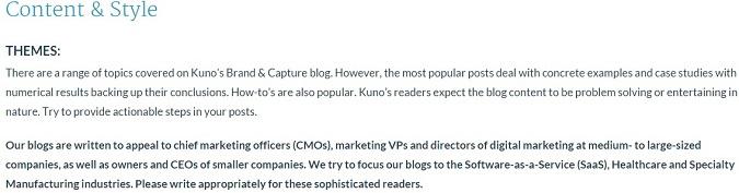 target audience for kuno creative