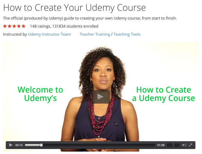 successful Udemy course