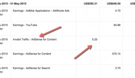 AdSense Added Invalid Activity payment deduction feature